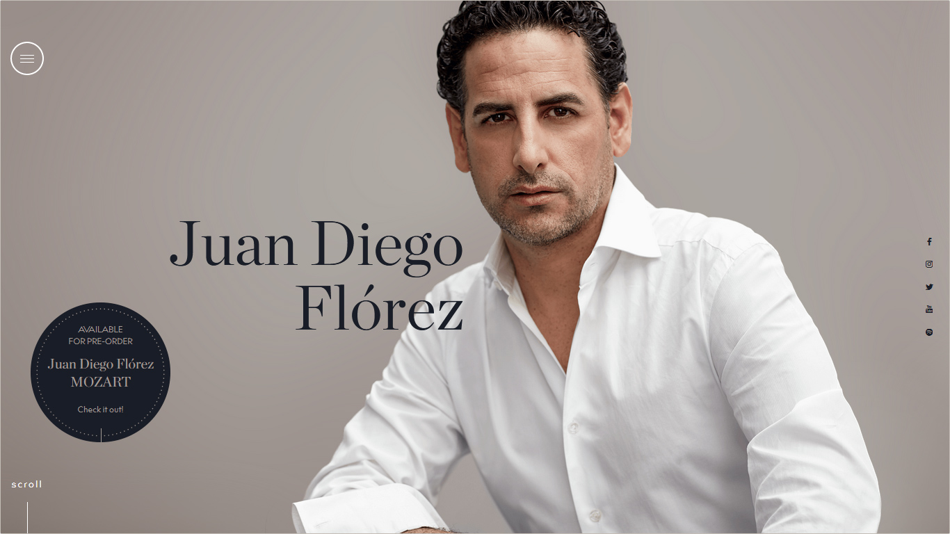 Website Juan Diego Florez