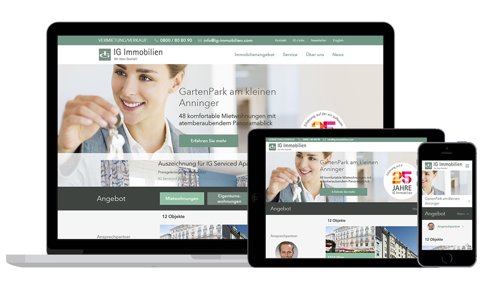 Responsive Website IG-Immobilien