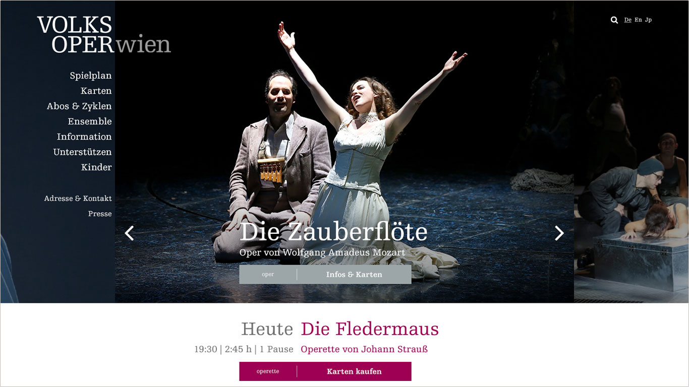 Website Volksoper Wien