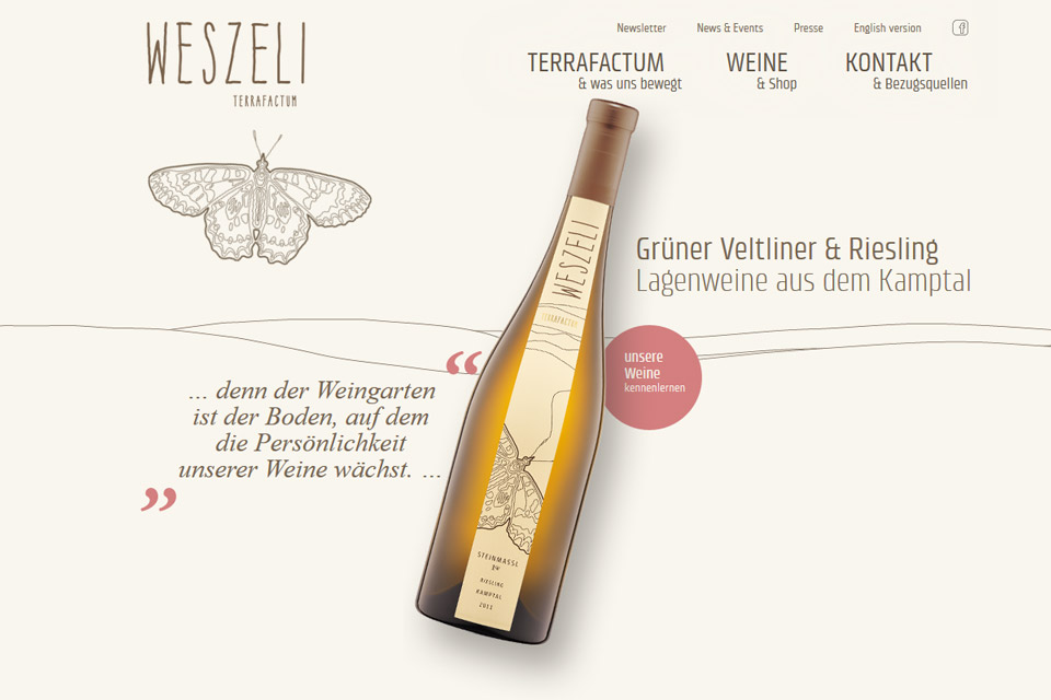 Website Weingut Weszeli